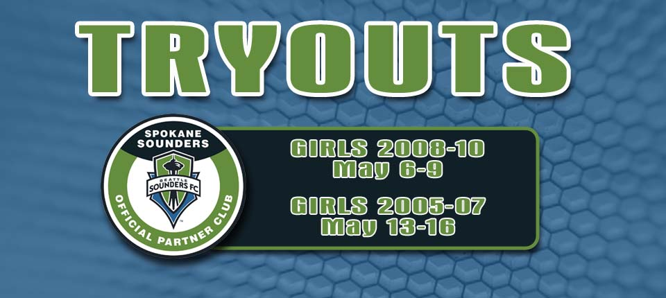Details for Younger Spokane Sounders Girls Tryouts Announced